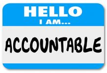 take ownership and be accountable
