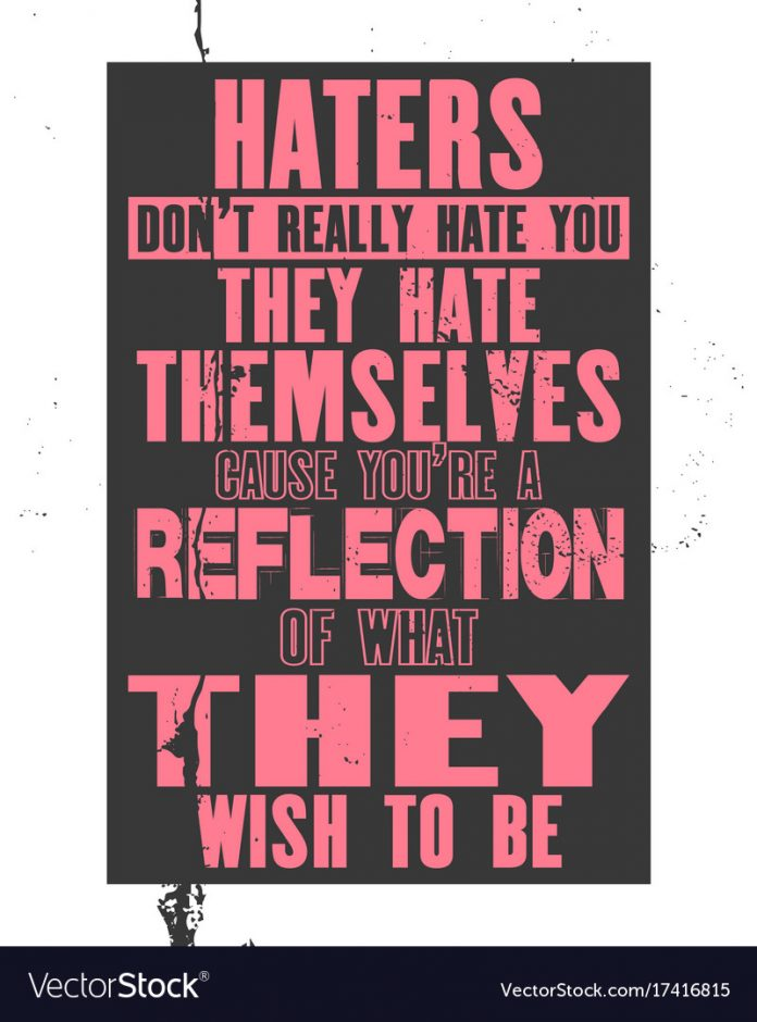 How to Deal with Haters? Please share this with haters to help fix them